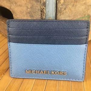 bf2a5840ecf6 Michael Kors Bags - Michael Kors Jet Set Travel LG Card Holder Denim